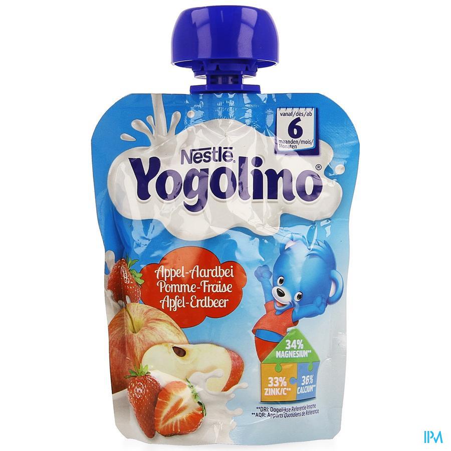 Nestle Yogolino Appel Aardbei Pouch 90 gr