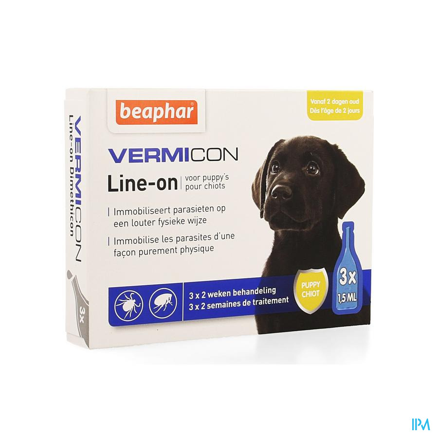 Beaphar Vermicon Line-on Puppy 3x1,5ml