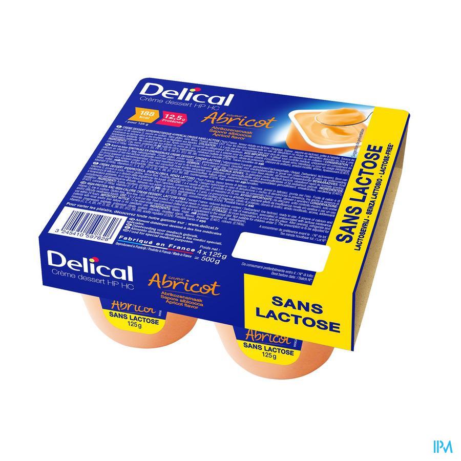 Delical Creme Dessert Hp-hc S/lact.abricot 4x125g
