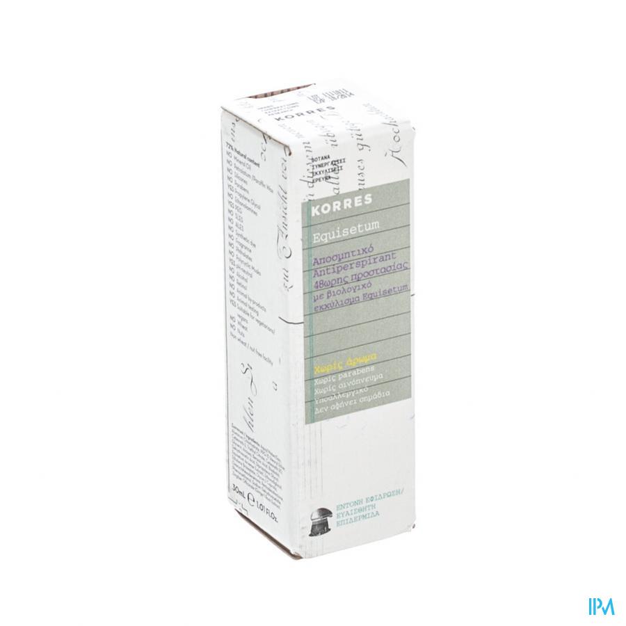 Korres A/perspirant Z/parfum Equisetum 30ml