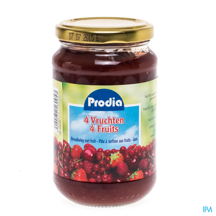 Prodia Confiture 4 Fruits + Fructose 370g 6095