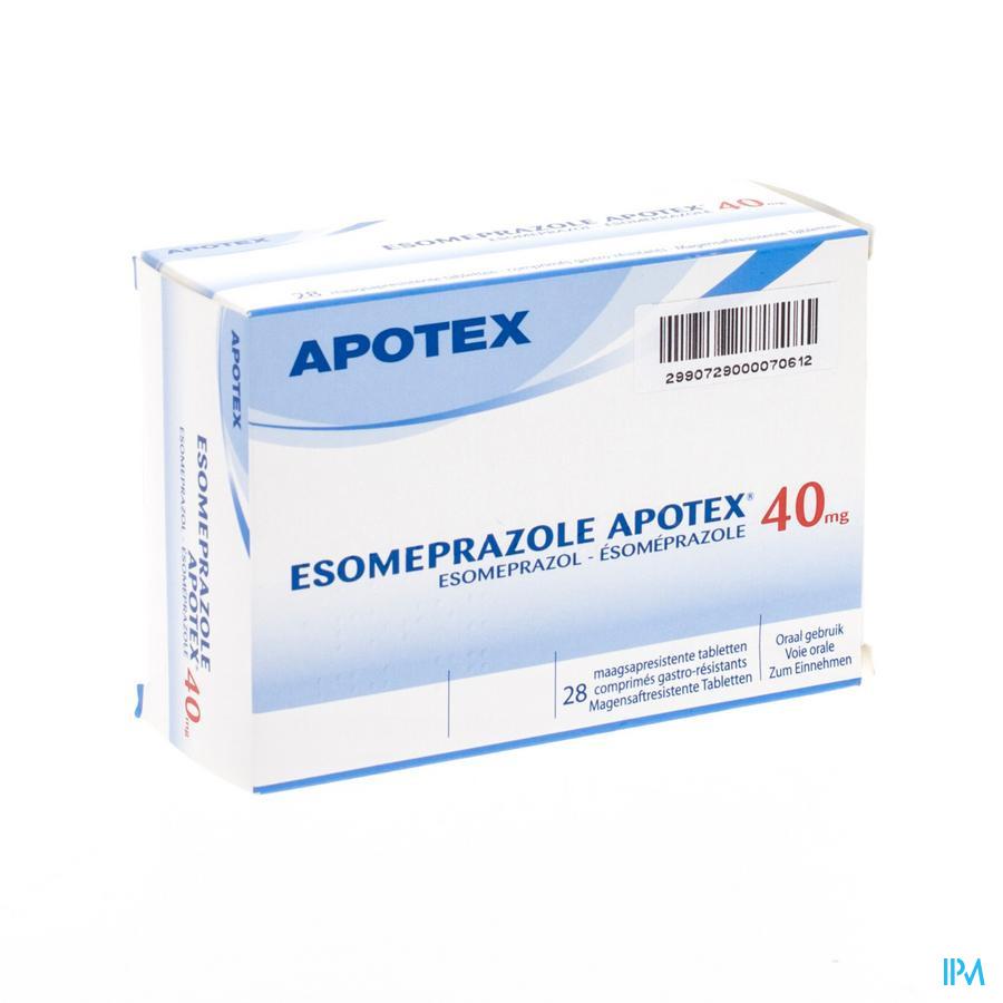 Esomeprazole 40mg Apotex C0mp Gastro Resist 28