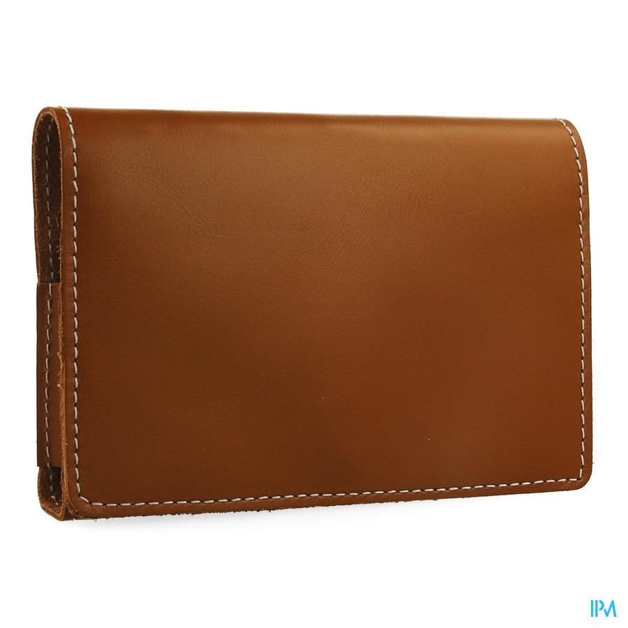 Medidose Pilulier Poche 1 Week Leather Cognac