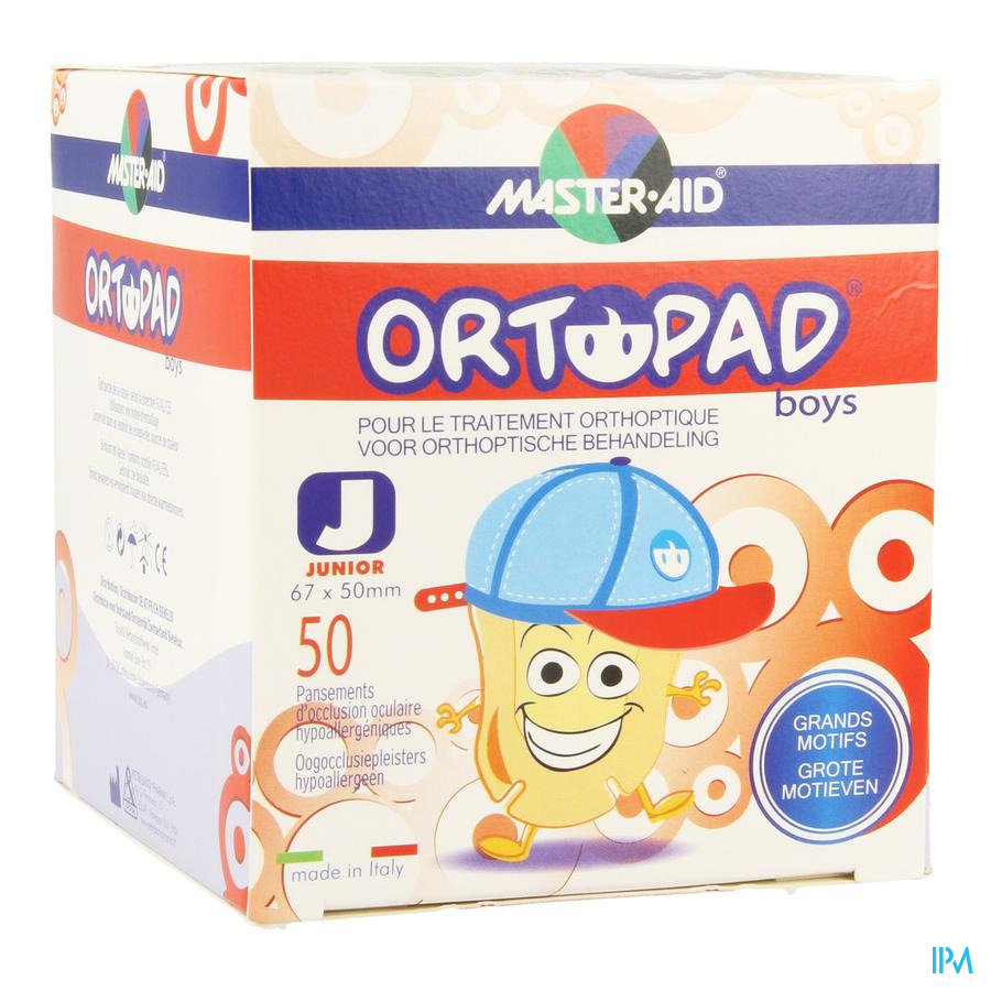 Ortopad Junior For Boys Compresse Ocul. 50 73321