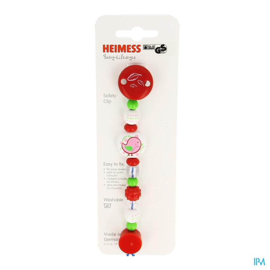 Heimess Fopspeenketting Plastic Roze Vogel H732650