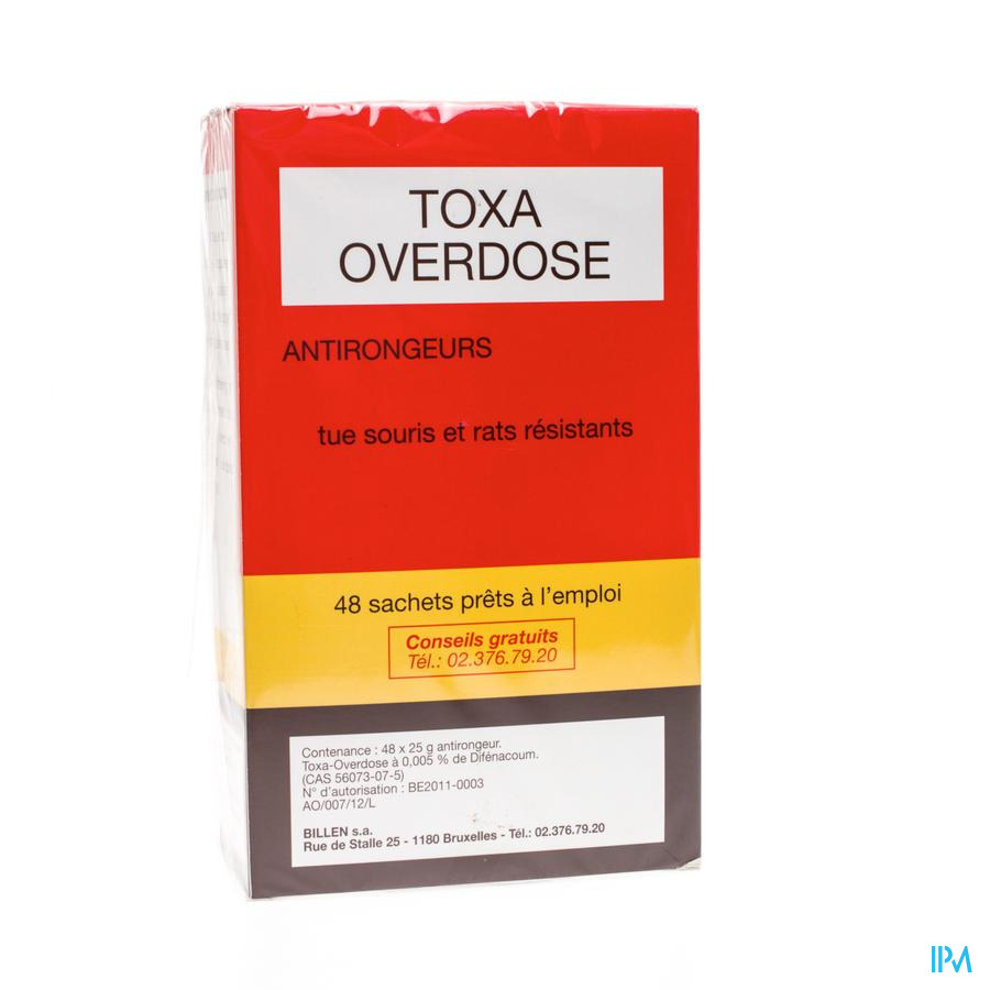 Toxa Overdose Souricide 48 X 25g