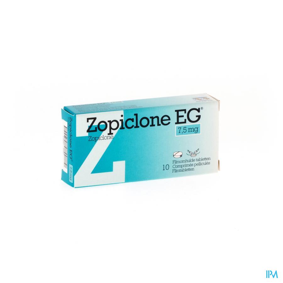 Zopiclone Eg Comp Enrob 10 X 7,5mg