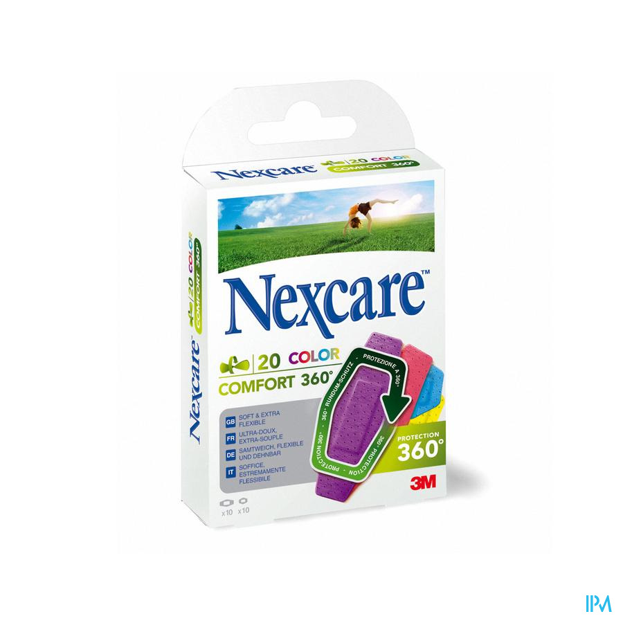 NEXCARE 3M COMFORT STRIP 360 BRIGHTS 20