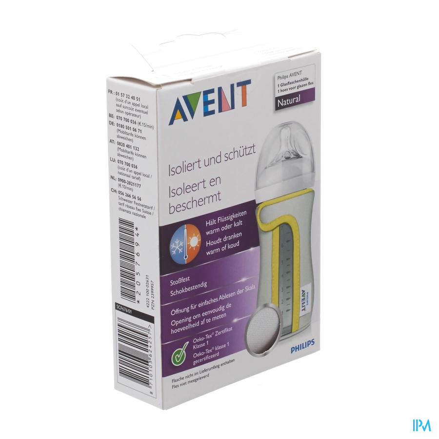 Philips Avent Hoes Glazen Zuigfles 240ml