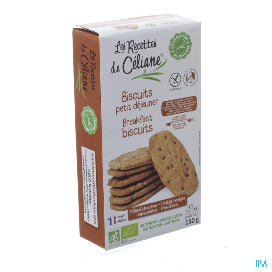 Celiane Biscuit Petit Dejeuner Bio 150g 4086