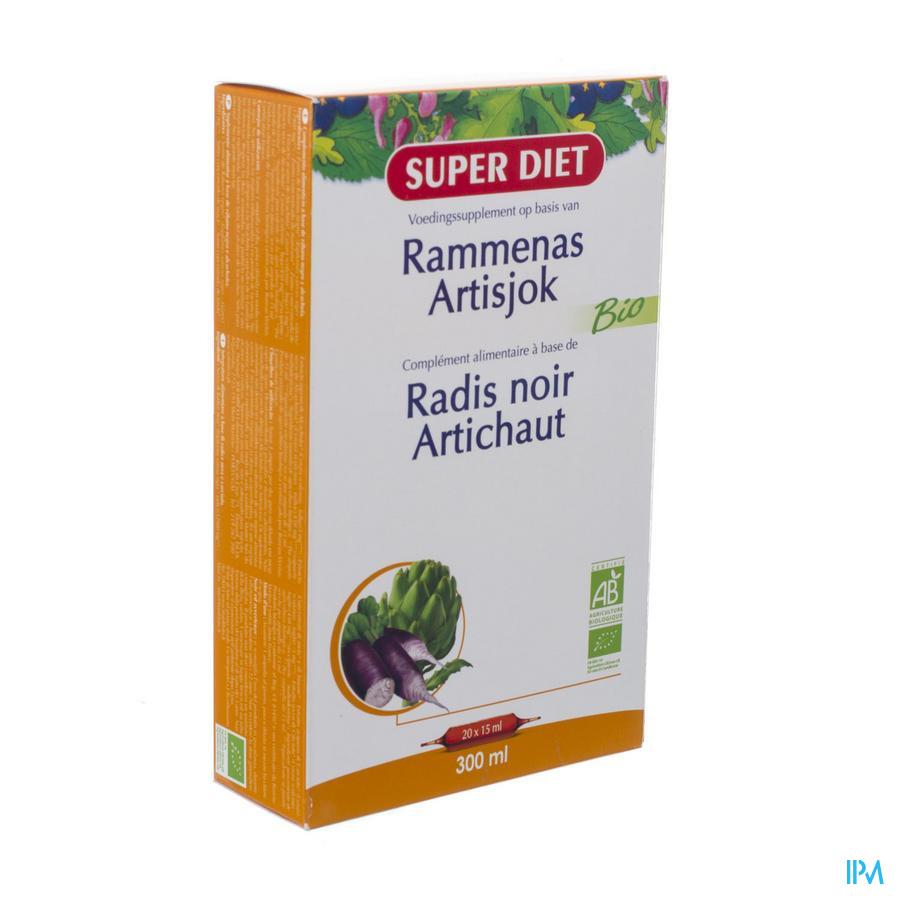 Super Diet Rammenas-artisjok Bio Amp 20x15ml