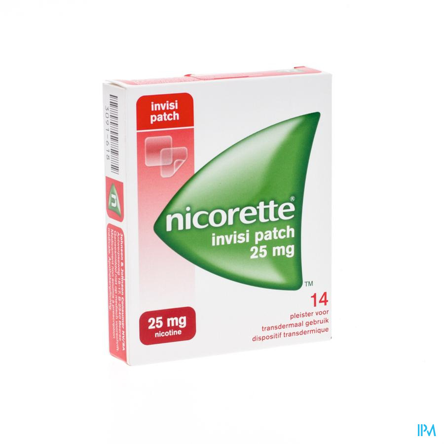 Nicorette Invisi 25mg Patch 14