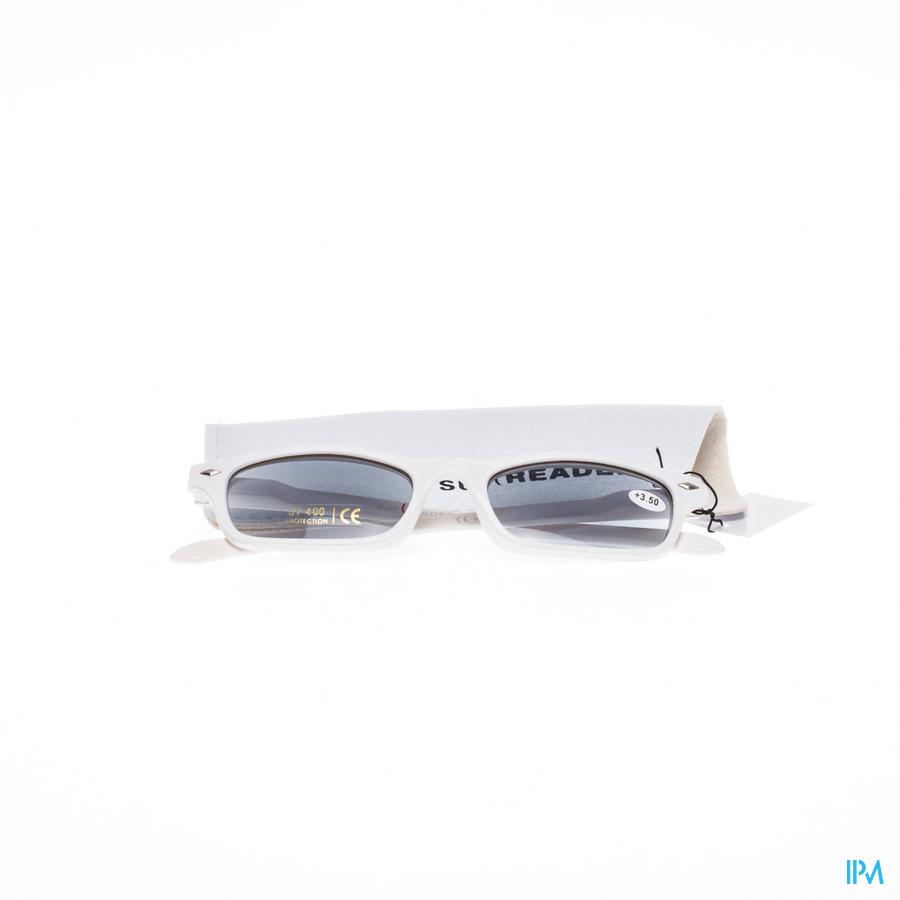 Sunreader Zonneleesbril +3.50 Wit