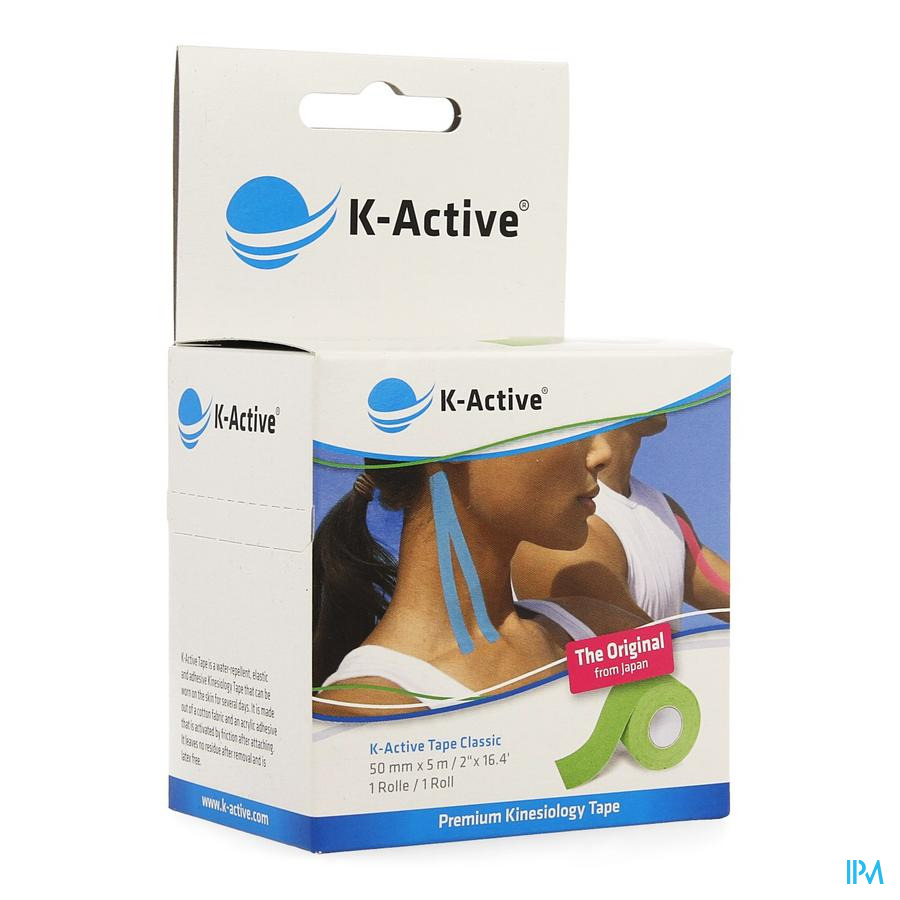 K-Active Tape Green 5,0cmx5m