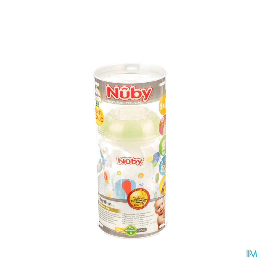 Nuby Zuigfl A/koliek + Speen Slow Flow + 4 Zakjes