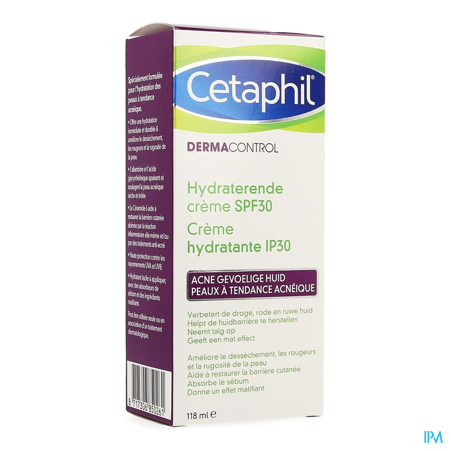 Cetaphil Dermacontrol Gezichtsverzorg.ip30 118ml