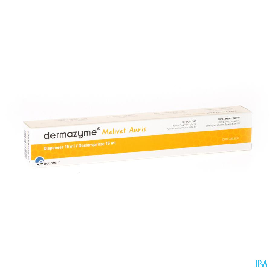DERMAZYME MELIVET AURIS OORDRUPPEL  15ML