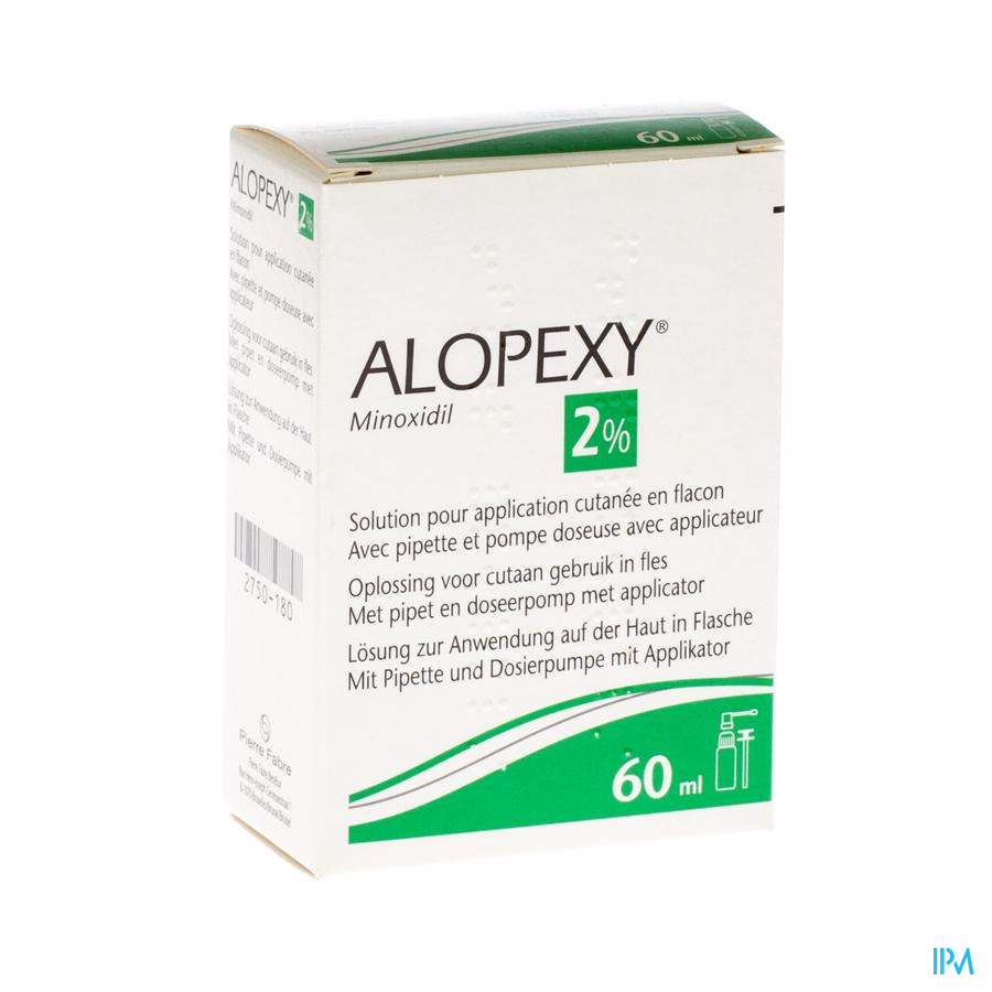 Alopexy 2 % Liquid Fl Plast Pipette 1x60ml