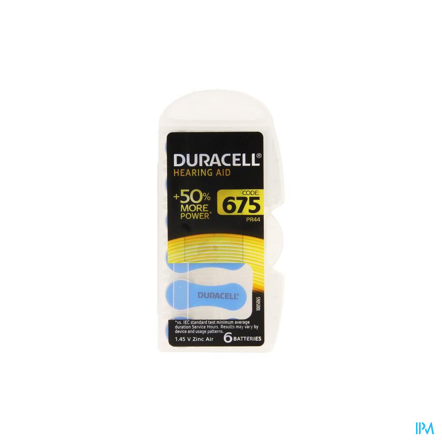Duracell Easytab Pile Auditive Da675 6 Bleu