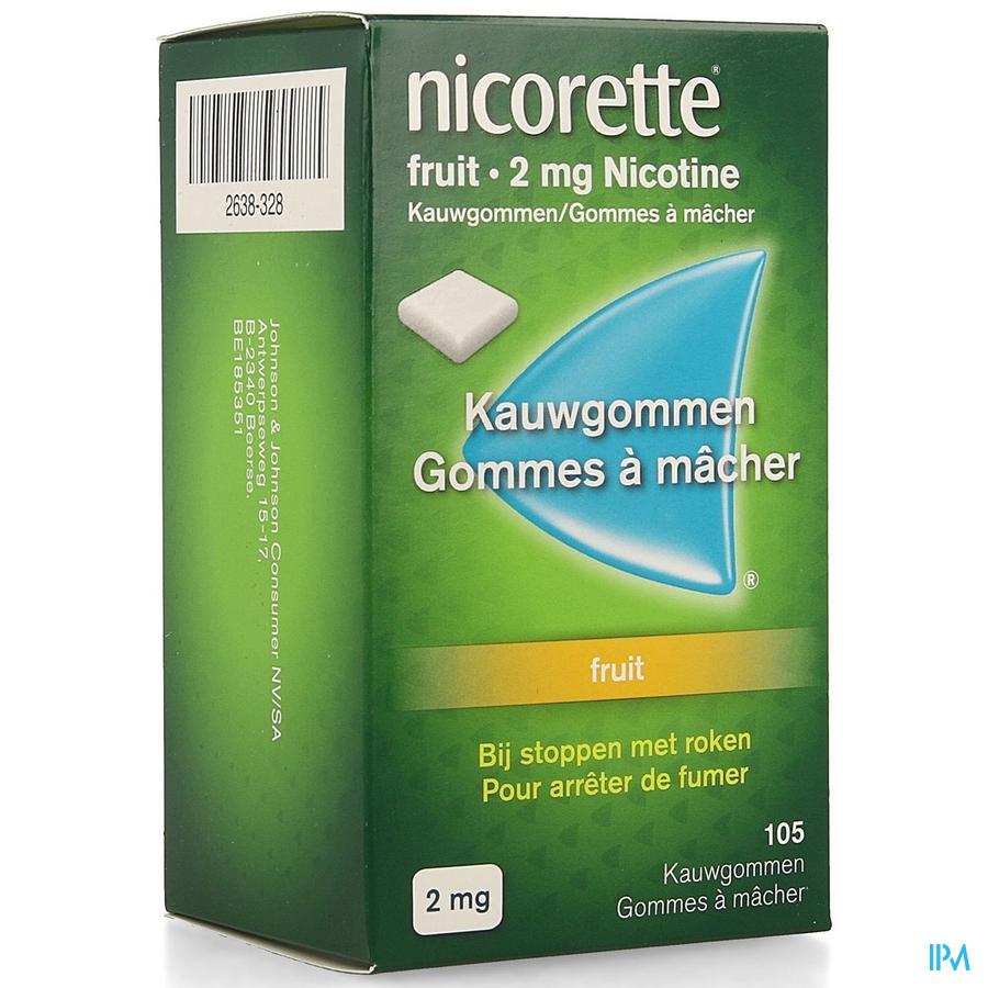 Nicorette Fruit Kauwgom 105x2 mg