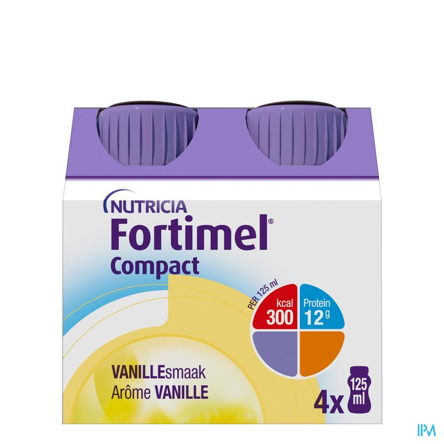 Fortimel Compact Vanille Flesjes 4x125 ml