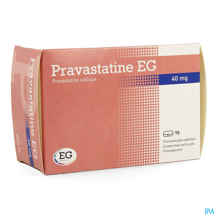 Pravastatine Eg Comp 98 X 40mg