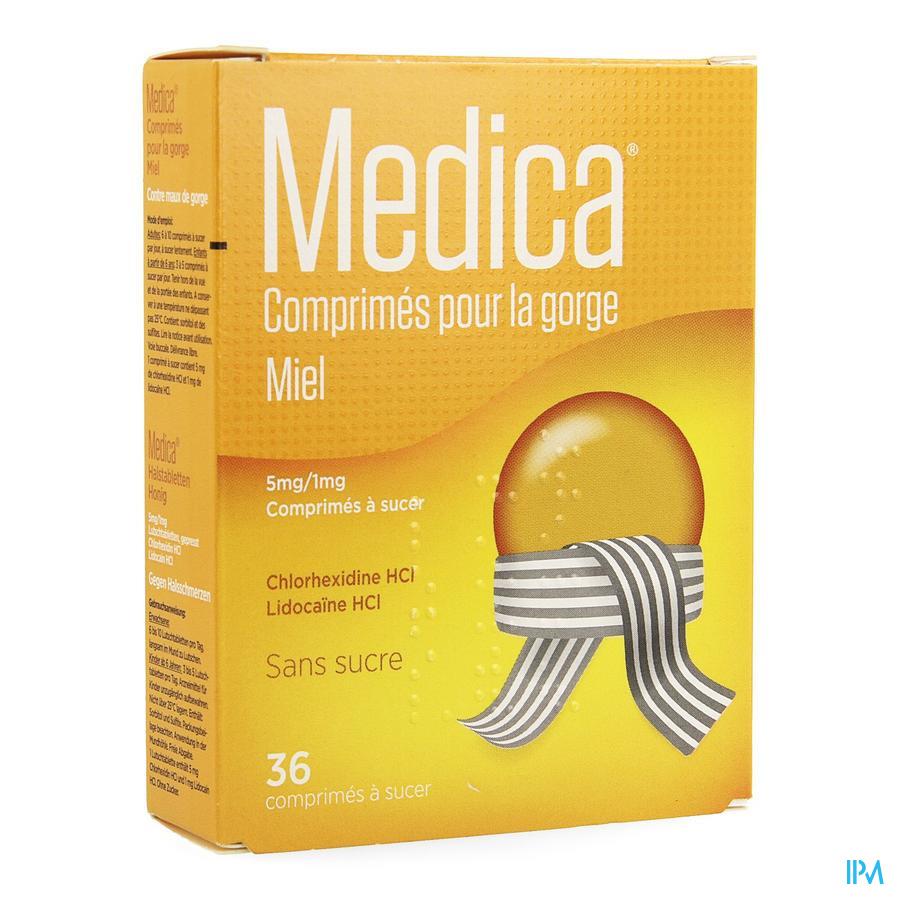 Medica Comprimes Gorge Miel Comp A Sucer 36