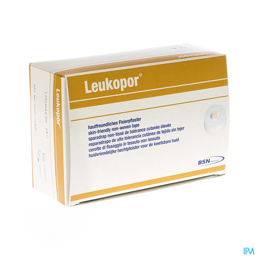 Leukopor Anti allergie Rol 1,25cmx9,2m 24 245300 - Sca Hygiene Products/Incont Care