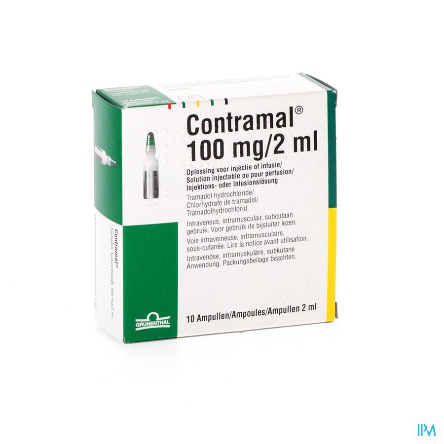 Contramal Amp 10 X 100mg/2ml