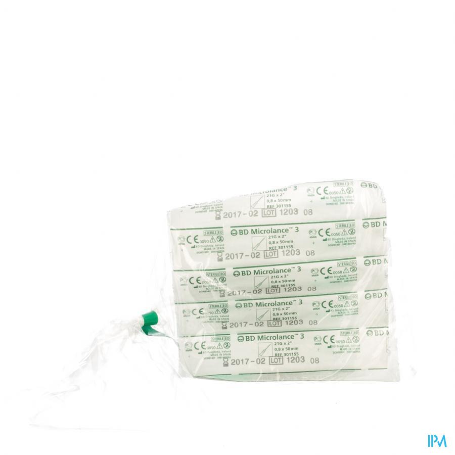 Bd Microlance 3 Naald 21g 2 Rb 0,8x50mm Groen 10
