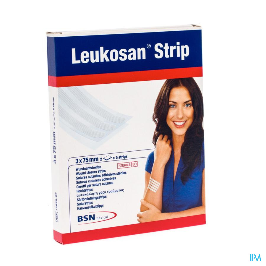 Leukosan Strip Ster 3x 75mm Wit 2x 5 7262807