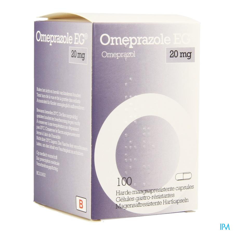 Omeprazole Eg 20mg Caps Gastro Resist Pot 100x20mg