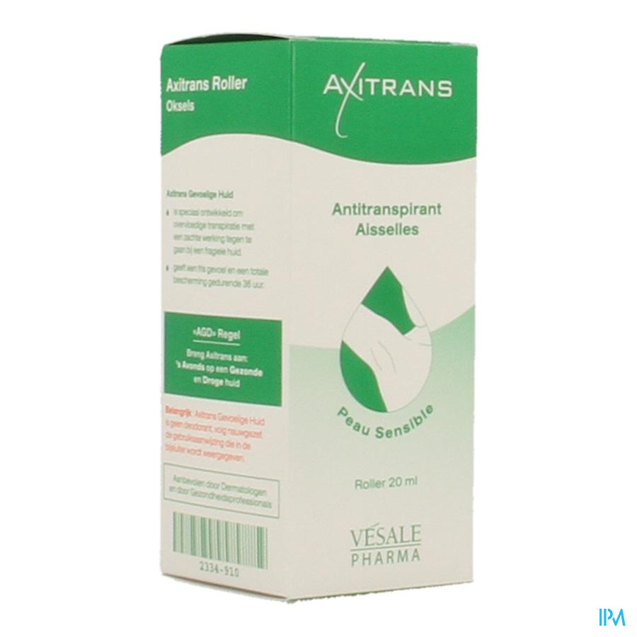 Axitrans Roller Peau Sensible A/transpirant 20ml