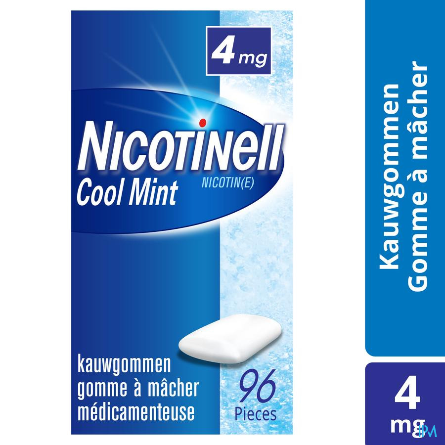 Nicotinell Cool Mint 4 mg Kauwgom 96