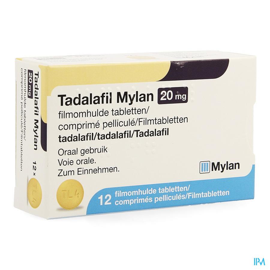Tadalafil Mylan 20mg Comp Pell 12 X 20mg
