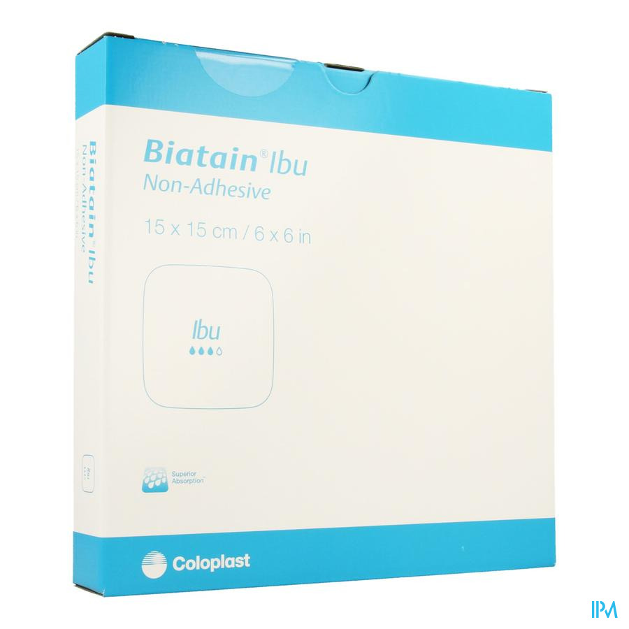 Biatain-ibu Verb N/adh+ibuprof. 15x15,0 5 34115