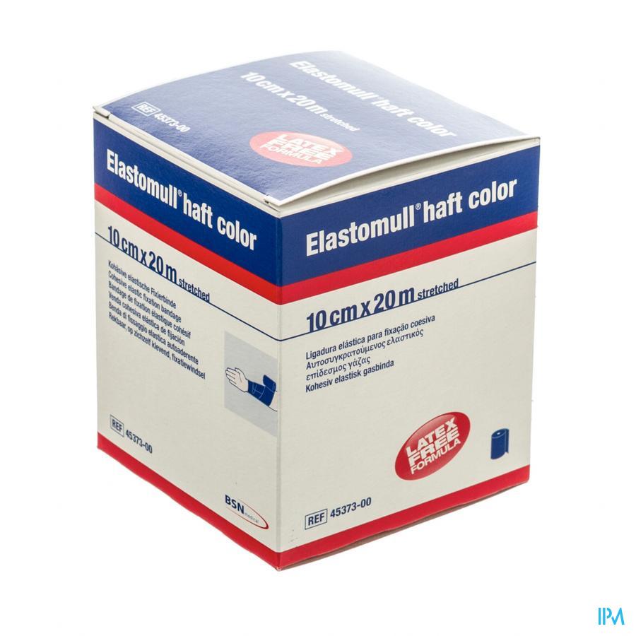 Elastomull Haft Latexvrij 10cmx20m Blauw 4537300