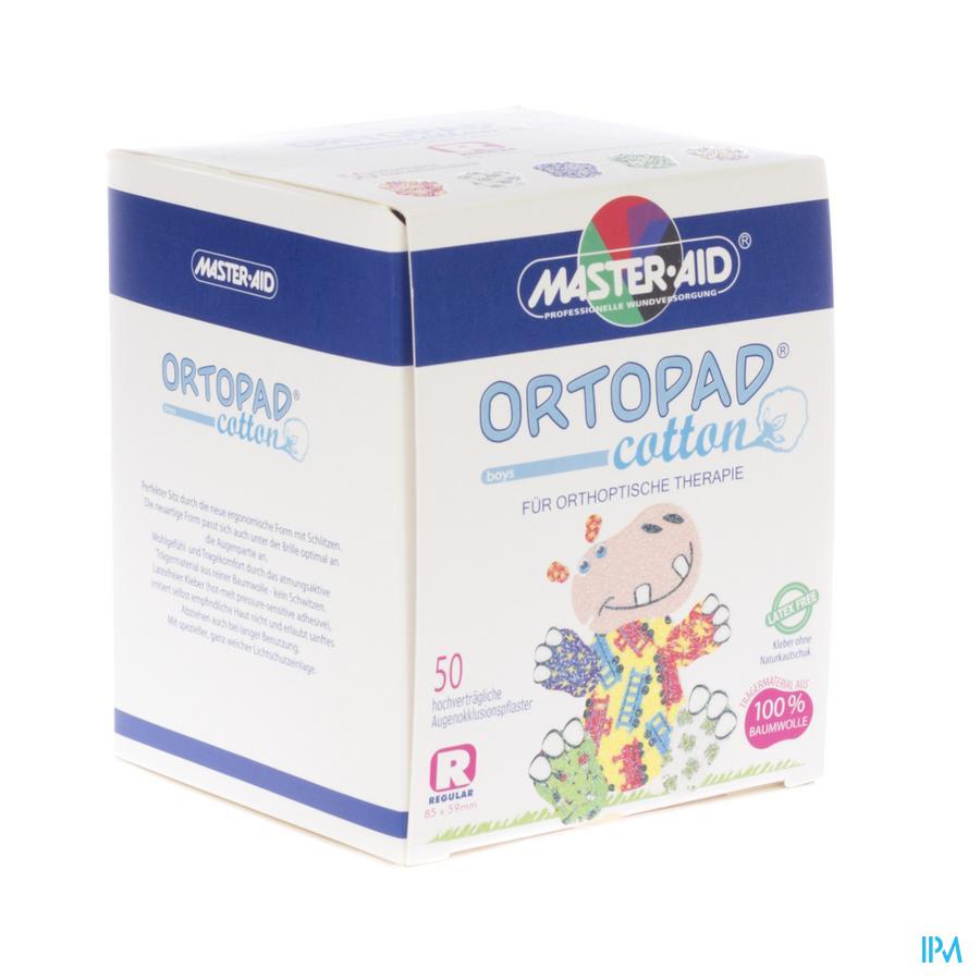 Ortopad Cotton Regular Boys Oogpleister 50 70174
