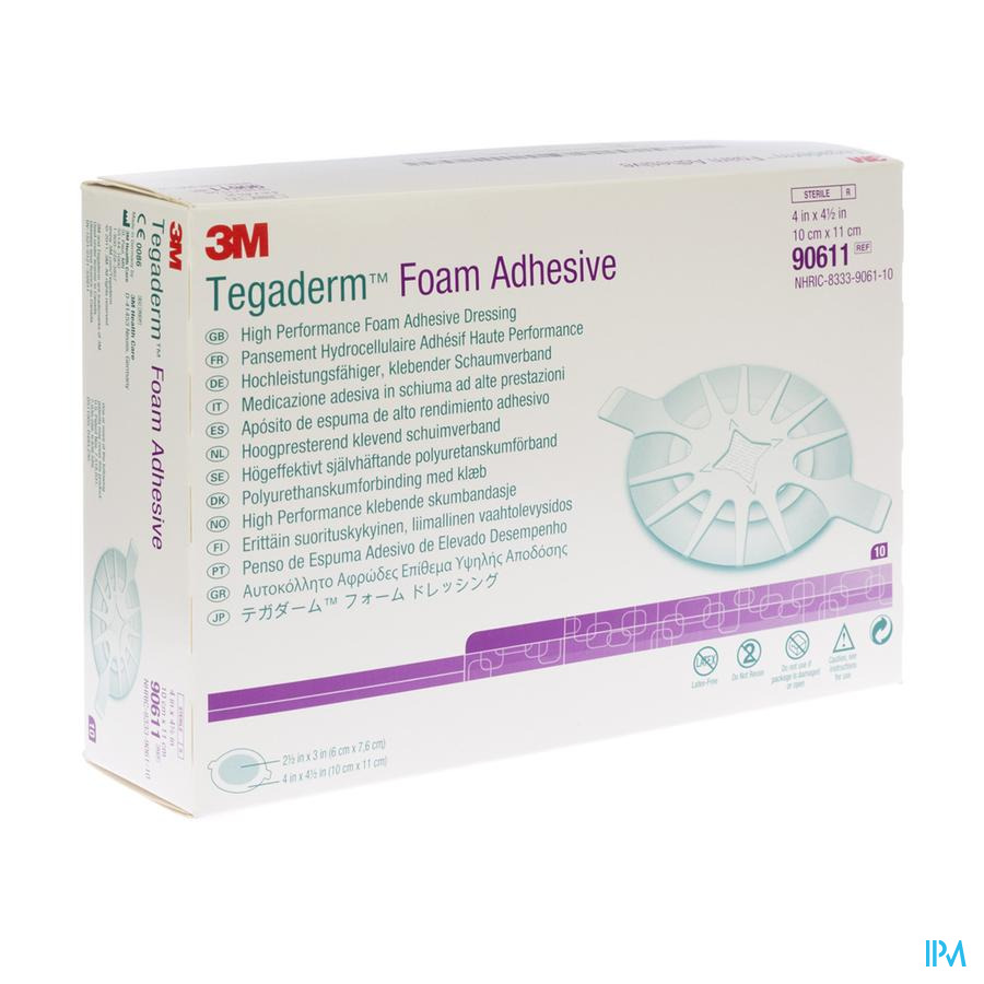 Tegaderm Foam Dressing Adh 10,00x11,00cm 10 90611