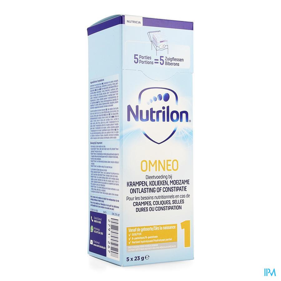 Nutrilon Omneo 1 Lait Nourris. Pdr Trialpack 5x23g