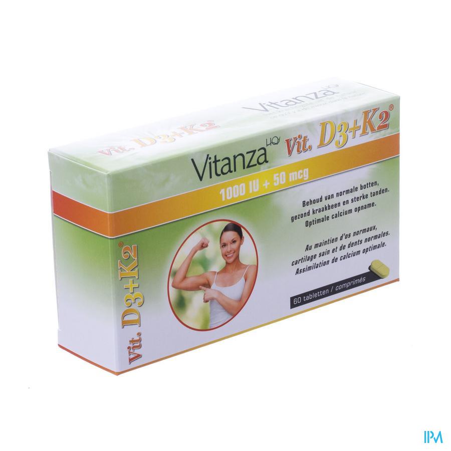 Vitanza Hq Vit D3 + K2 Tabletten 60