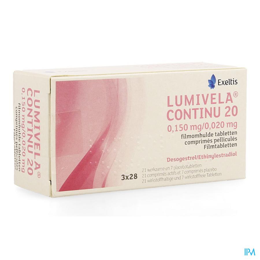 Lumivela Continu 20 Comprimés Pelliculés 3 X 21 + 3 X 7