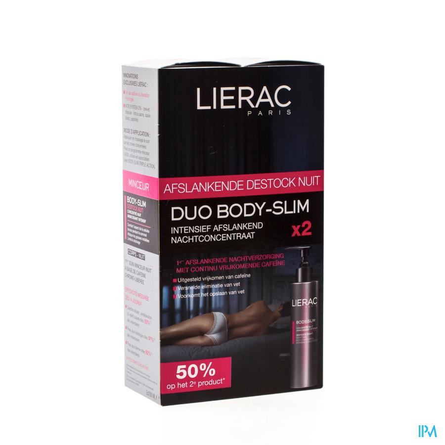 LIERAC BODYSLIM DESTOCK NACHT DUO TUBE 2X200ML
