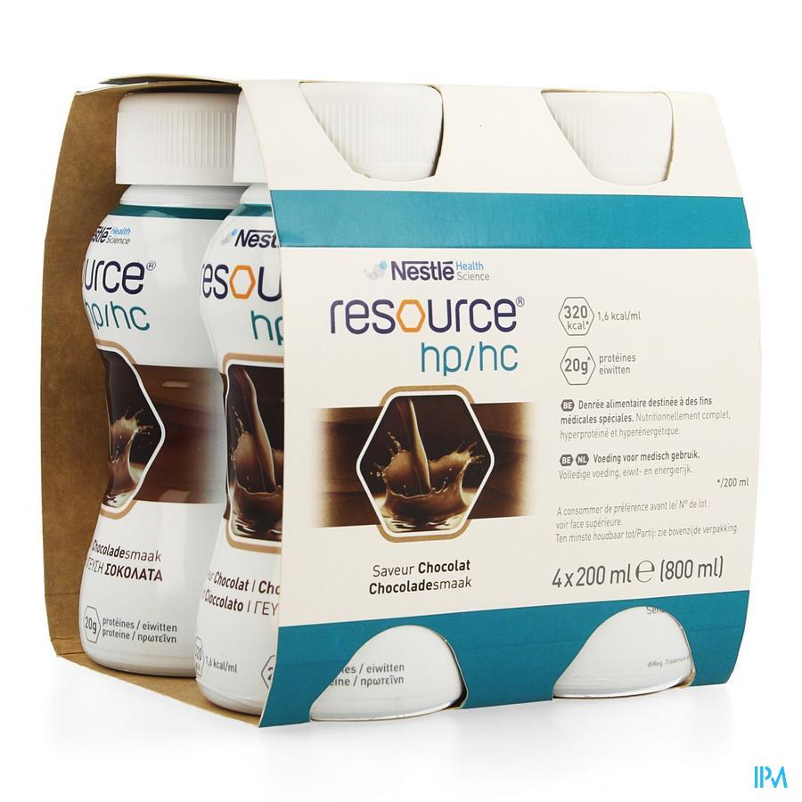 Resource Hp Hc Chocolade Fles 4x200 ml