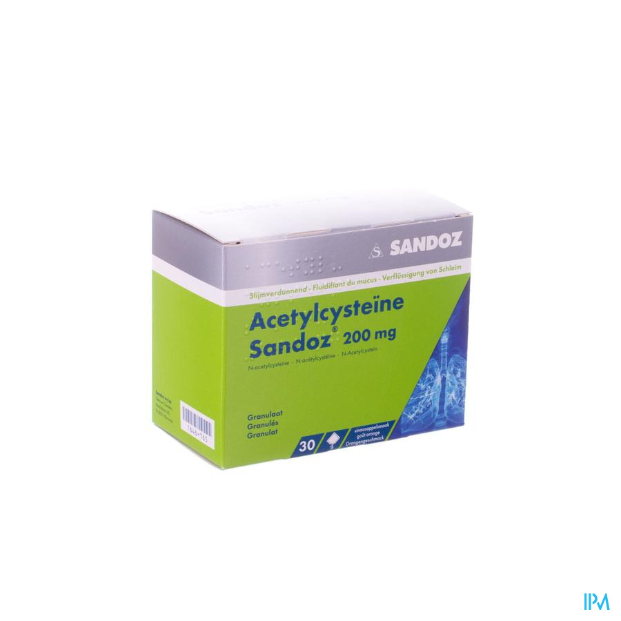 Acetylcysteine Sandoz 200mg Sach. 30 X 200mg