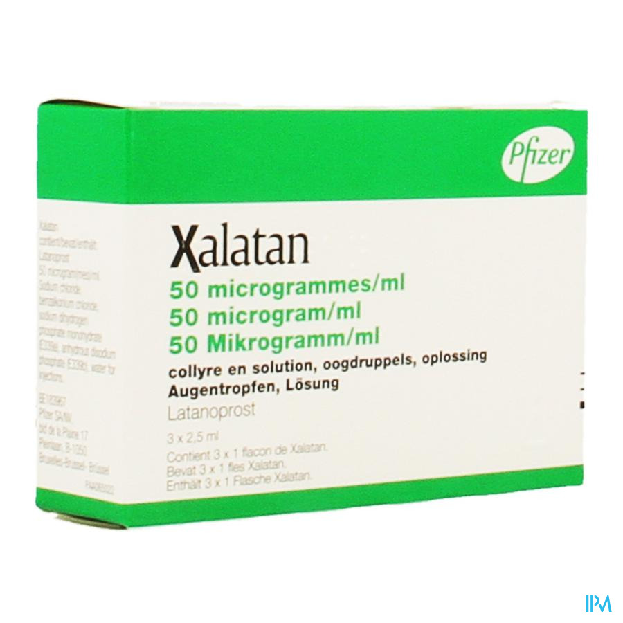 Xalatan 0,005 % Collyre 3x2,5ml