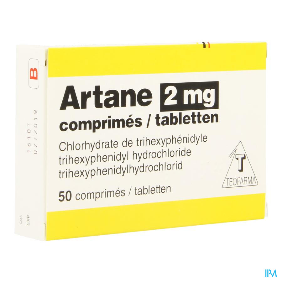 Artane 2mg Blister Comp 50 X 2mg