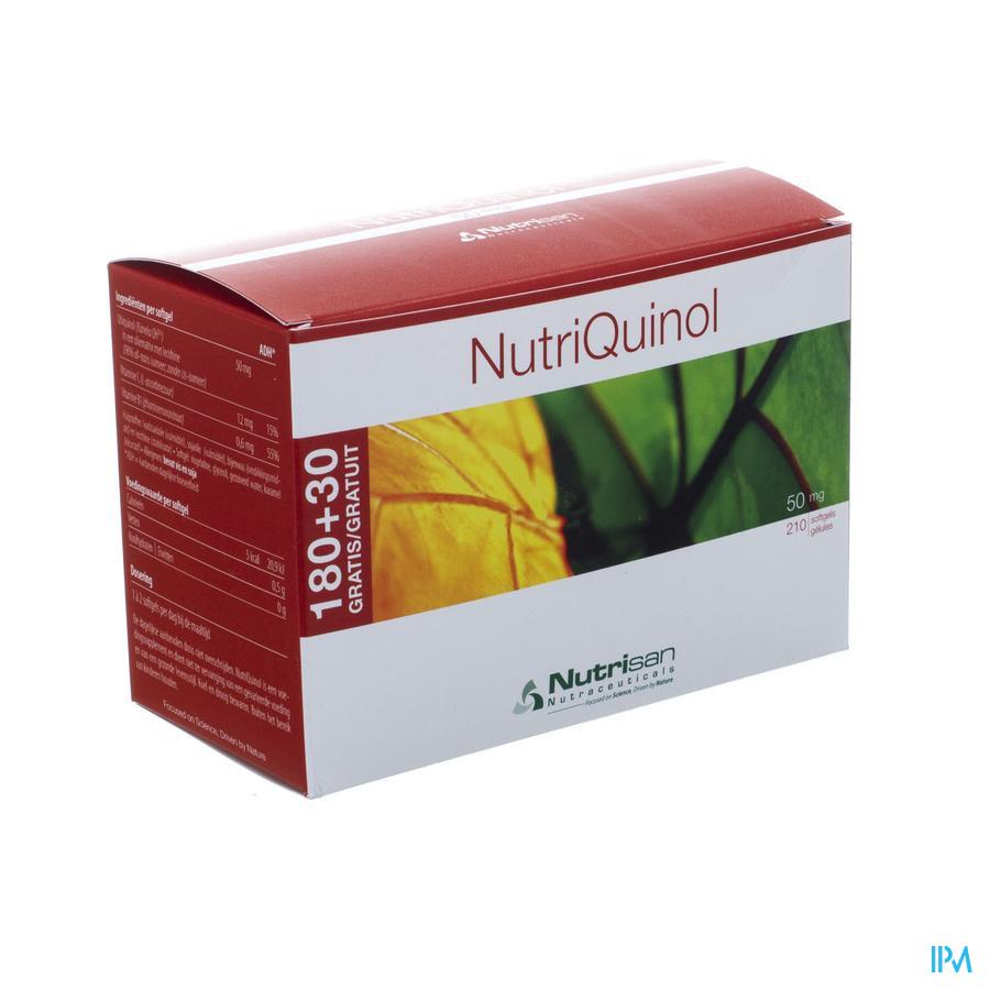 Nutriquinol 50mg 180+30 Gratuit gélules souples Nutrisan