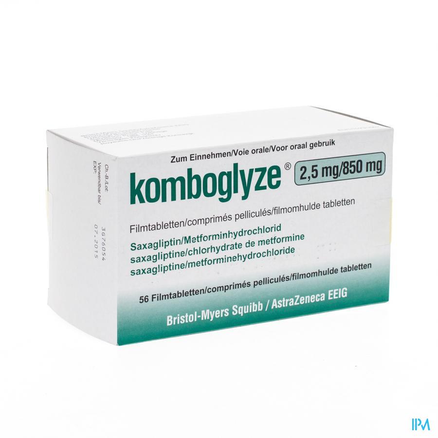 Komboglyze 2,5mg/850mg Comp Pell 56