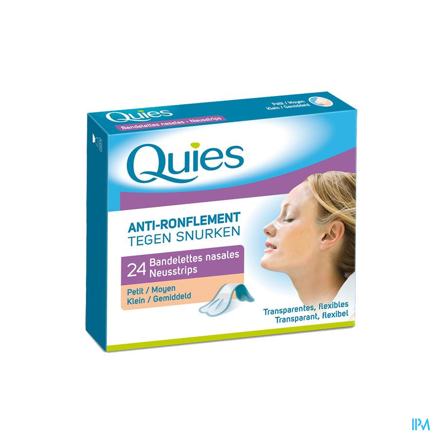 Quies A/ronflement Bandelette Nasale Petit 24